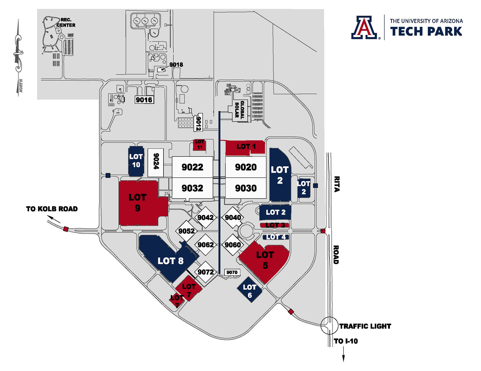 Ua Parking Map Maps | Tech Parks Arizona
